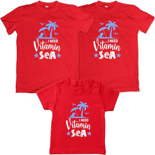 Vitamin-Sea-Beach-Combo-T-Shirt-Red
