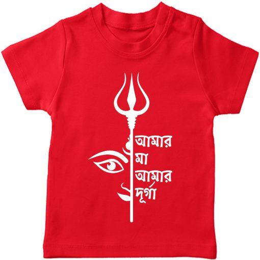 Amar-Ma-Amar-Durga-TShirt-Red