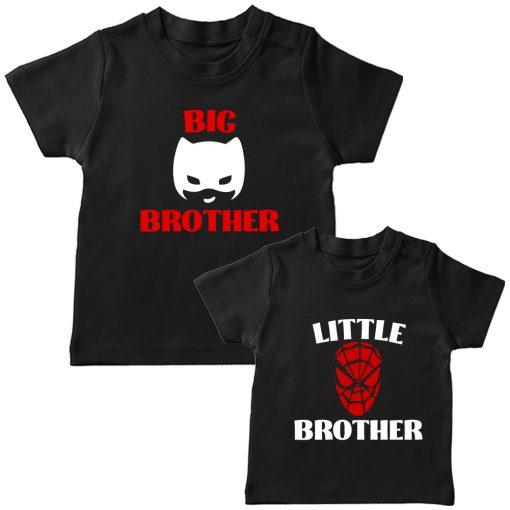 Batman-&-Spiderman-Siblings-Combo-Tee-Black