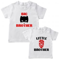 Batman-&-Spiderman-Siblings-Combo-Tee-White