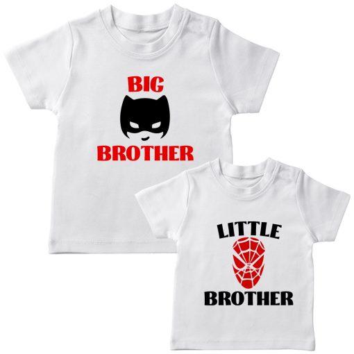 Batman-&-Spiderman-Siblings-Combo-Tee-White