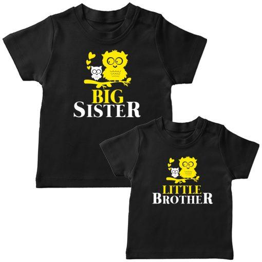 Birdie-Big-&-Little-Siblings-Combo-T-Shirt-Black