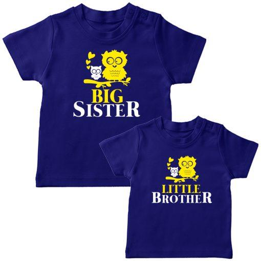 Birdie-Big-&-Little-Siblings-Combo-T-Shirt-Blue
