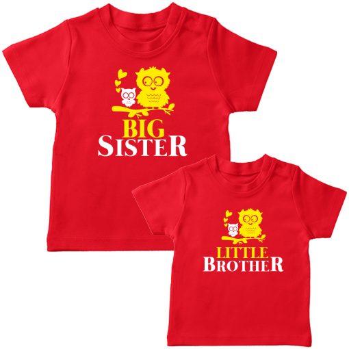 Birdie-Big-&-Little-Siblings-Combo-T-Shirt-Red