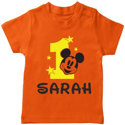 Birth-Month-Mickey-T-Shirt-Orange