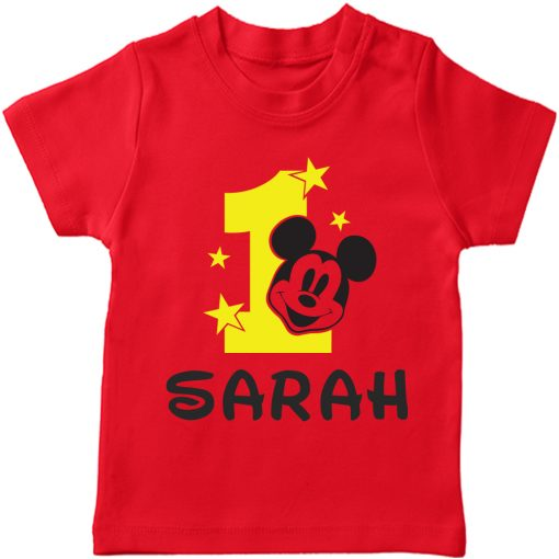 Birth-Month-Mickey-T-Shirt-Red