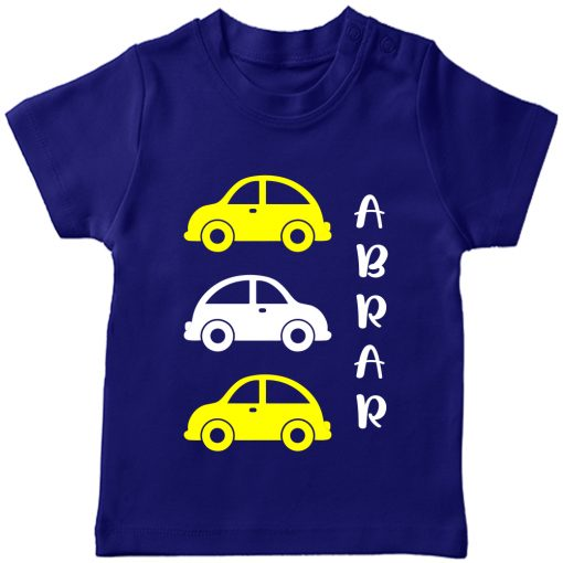 Car-Customized-Name-Tee-Blue
