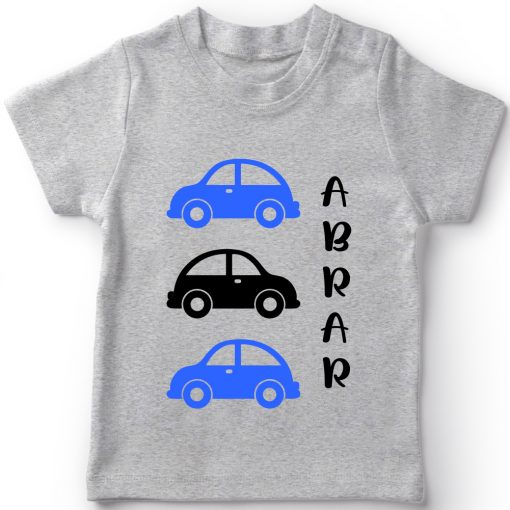Car-Customized-Name-Tee-Grey