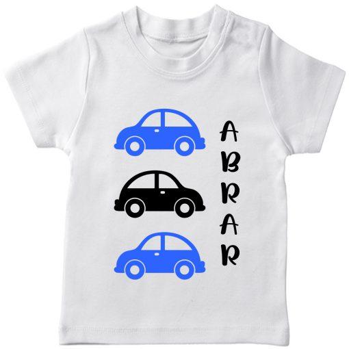 Car-Customized-Name-Tee-White
