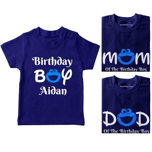 Cookie-Monster-Bithday-Combo-T-Shirt-Blue