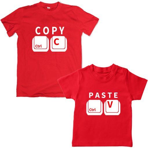 Copy-Paste-Unique-Combo-Tee-Red