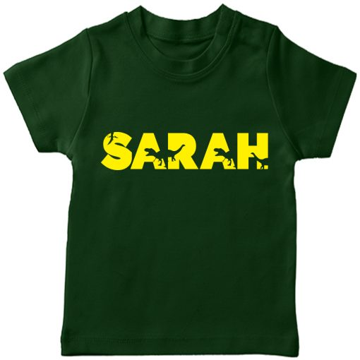 Dino-Customized-Name-Tee-Green