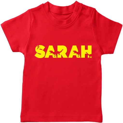 Dino-Customized-Name-Tee-Red