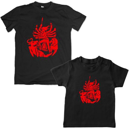 Durga-Family-Combo-T-Shirt-Black