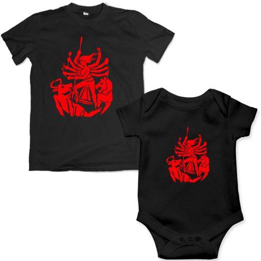 Durga-Family-Combo-T-Shirt-&-Romper-Black