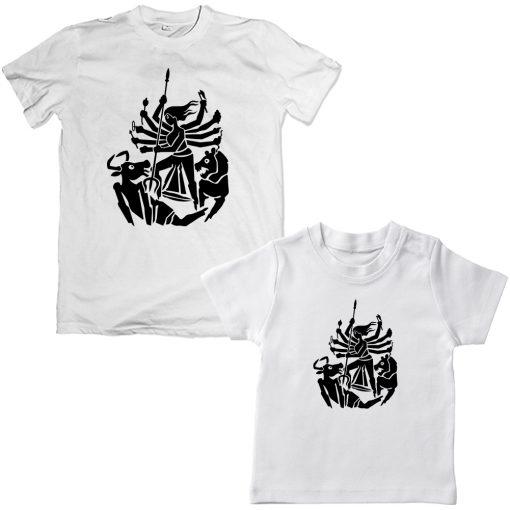 Durga-Family-Combo-T-Shirt-White