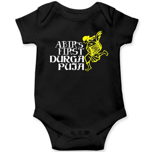 First-Durga-Puja-Celebration-Baby-Romper-Black