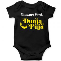 First-Durgapuja-Baby-Romper-Black