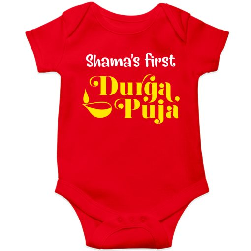 First-Durgapuja-Baby-Romper-Red