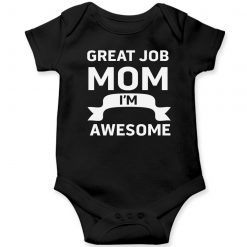 Great-Job-MOM-Baby-Romper-Black
