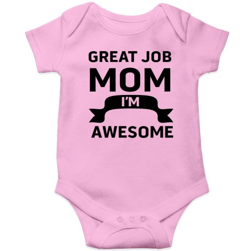 Great-Job-MOM-Baby-Romper-Pink