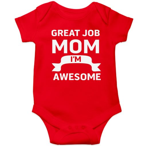 Great-Job-MOM-Baby-Romper-Red