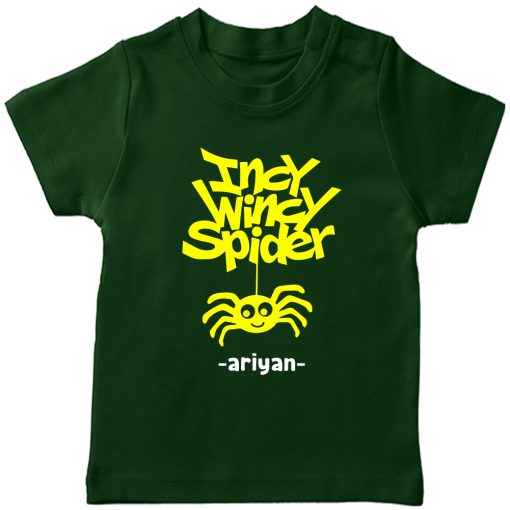 Incy-Wincy-Spider-Customized-Name-Tee-Green
