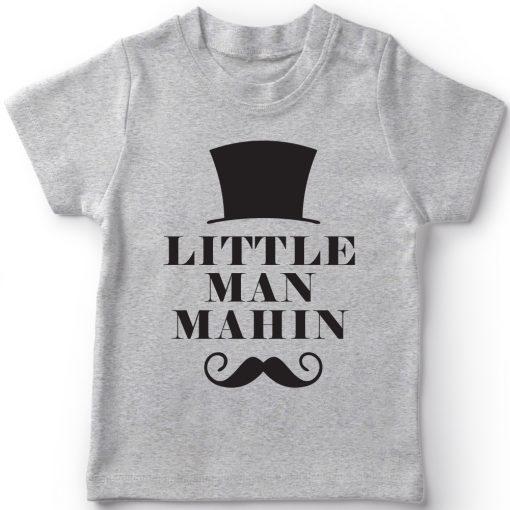 Little-Man-Customized-Name-T-Shirt-Grey
