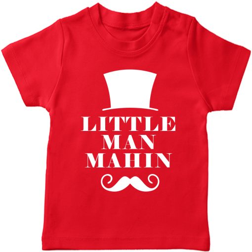 Little-Man-Customized-Name-T-Shirt-Red