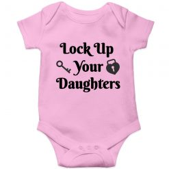 Lockup-your-daughters-Baby-Romper-Pink