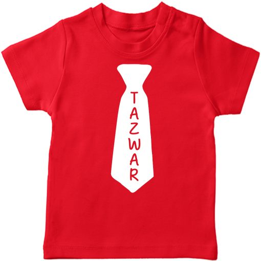 Name-in-a-tie-T-Shirtr-Red