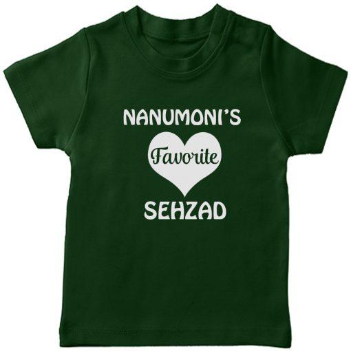 Nanumonis-Favourite-Customized-Name-Tee-Green