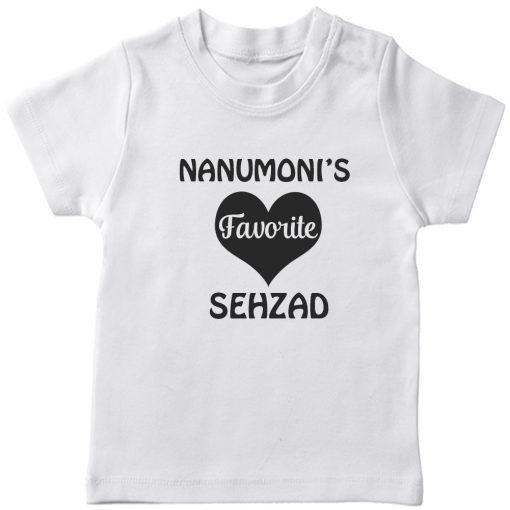 Nanumonis-Favourite-Customized-Name-Tee-White