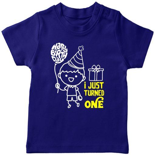 One-Year-Celebration-Birthday-TShirt-Blue