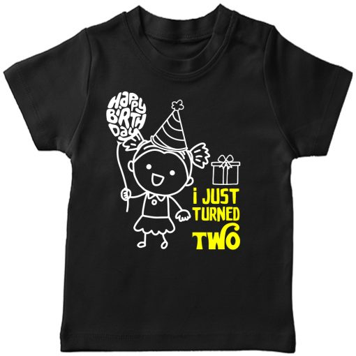One-Year-Celebration-Birthday-TShirt-Girl-Black