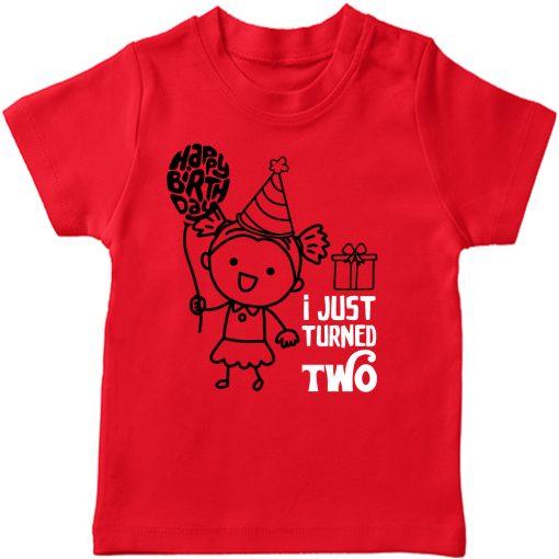 One-Year-Celebration-Birthday-TShirt-Girl-Red