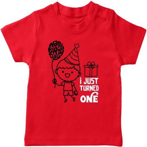 One-Year-Celebration-Birthday-TShirt-Red