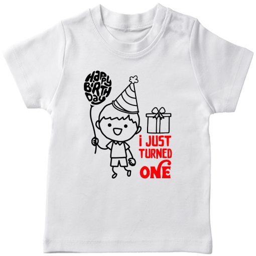 One-Year-Celebration-Birthday-TShirt-White
