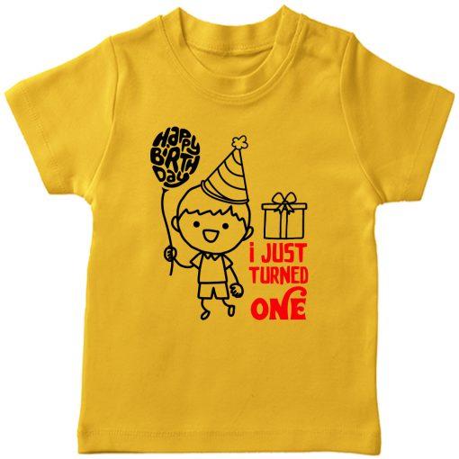 One-Year-Celebration-Birthday-TShirt-Yellow