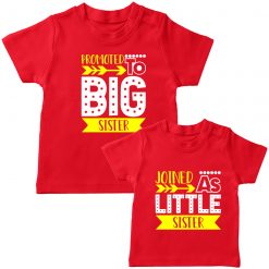 Promoted-to-big-Sister-Combo-Tee-Red
