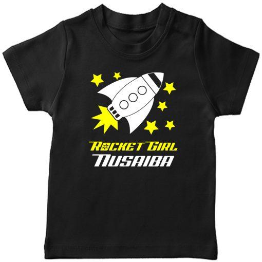 Rocket-Customized-T-Shirt-Girl-Black
