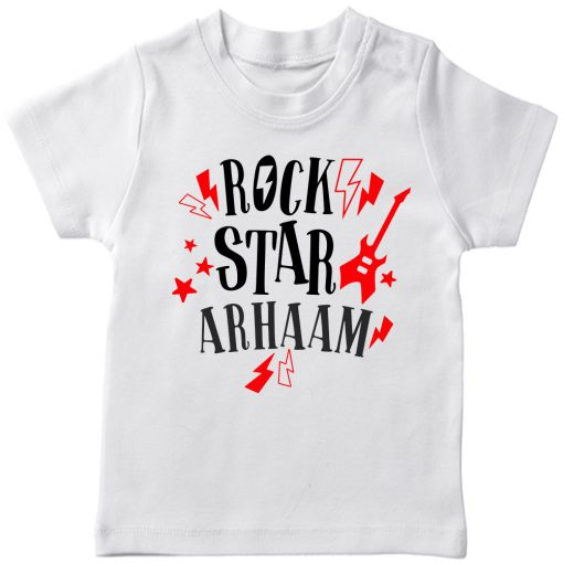 Rockstar-Customized-Name-T-Shirt-White