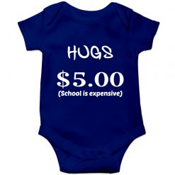 School-is-expensive-Baby-Romper-Blue