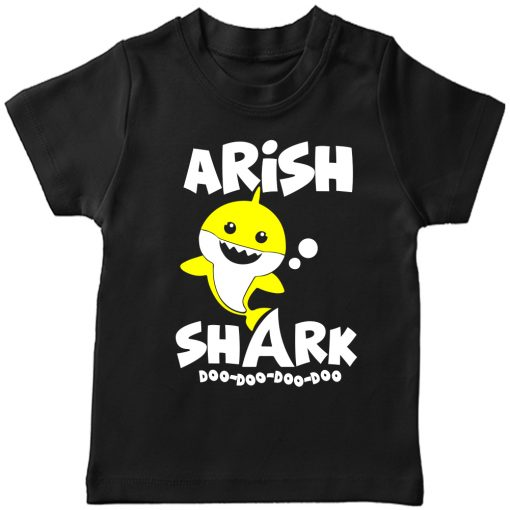 Shark-Customized-Name-Tee-Black