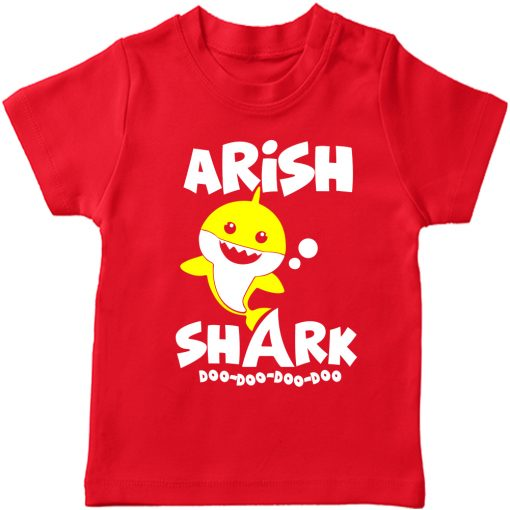 Shark-Customized-Name-Tee-Red