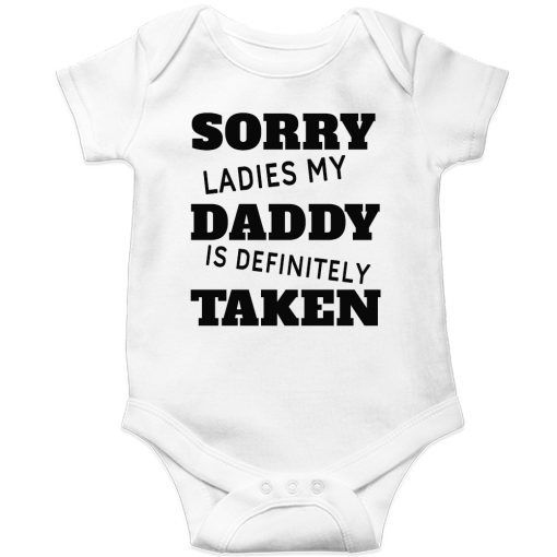 Sorry-ladies-my-daddy-is-taken-Baby-Romper-White