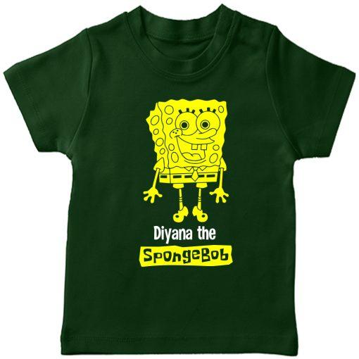 Spongebob-Customized-T-Shirt-Green