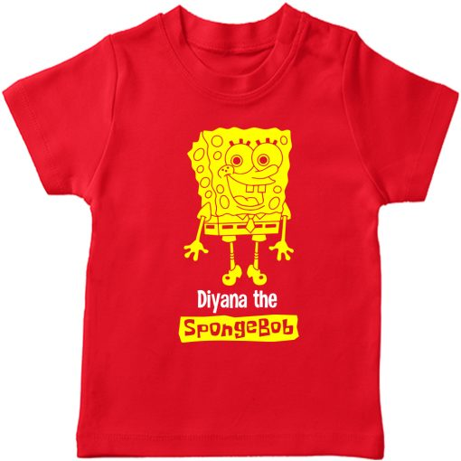 Spongebob-Customized-T-Shirt-Red