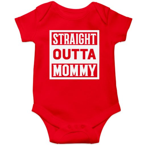 Straight-Outta-Mommy-Baby-Romper-Red