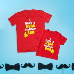 Superhero-Calling-Dad-Son-Combo-Tee-Content